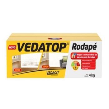 Impermeabilizante Vedatop Rodapé Branco 4kg - Ref. 132002 - VEDACIT