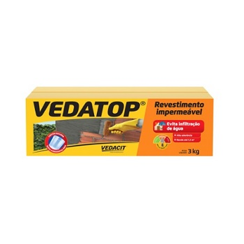 Impermeabilizante Revestimento 3kg Vedatop - Ref.132561 - VEDACIT