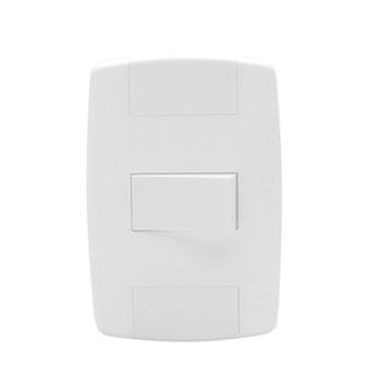 Interruptor 4x2 1 Tecla Simples 10A Lev Branco - Ref.8717 - ILUMI