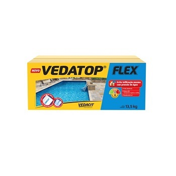 Impermeabilizante Revestimento 13,5kg Vedatop Flex - Ref.111998 - VEDACIT