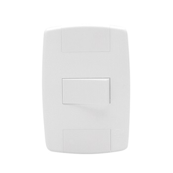 Interruptor 1 Tecla 25A Lev Branco - Ref.8734 - ILUMI