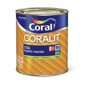 Base T Tinta Esmalte Acetinado Coralit Zero 800ml - Ref. 5267053 - CORAL