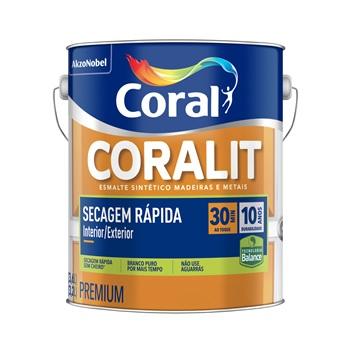 Base T Tinta Esmalte Acetinado Coralit Zero 3,2 Litros - Ref. 5267052 - CORAL