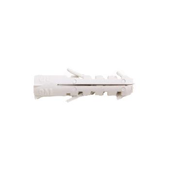 Bucha Fixadora Nylon 8 Saco 500 Peças Branca - Ref.52140108 - IV PLAST
