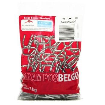 Grampo Aço 1x9 Galvanizado 1kg - Ref. 40466872 - BELGO