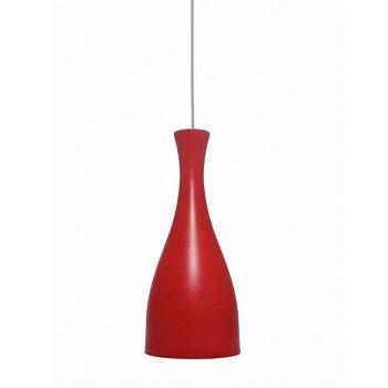Pendente de Alumínio 60w E27 TD1003 Vermelho Fosco - Ref. 02110028-19 - TASCHIBRA
