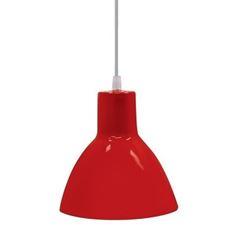 Pendente de Alumínio 40w TD622 Vermelho - Ref. 02110017-14 - TASCHIBRA