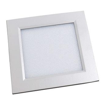 Luminária Plafon LED 6W 6500K Bivolt Embutir Quadrado Branco - Ref. DI48290 - DILUX