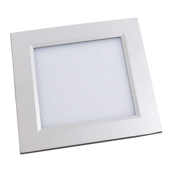Luminária Plafon LED 12W 6500K Bivolt Embutir Quadrado Branco - Ref. DI48337 - DILUX