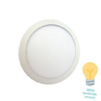 Luminária Plafon LED 12W 3000K Bivolt Embutir Redondo Branco - Ref. DI48344 - DILUX