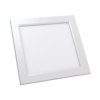 Luminária Plafon LED 18W 6500K Bivolt Embutir Quadrado Branco - Ref. DI48375 - DILUX