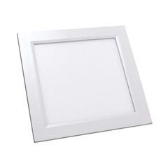 Luminária Plafon LED 24W 6500K Bivolt Embutir Quadrado Branco - Ref. DI48412 - DILUX