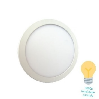 Luminária Plafon LED 24W 3000K Bivolt Embutir Redondo Branco - Ref. DI48429 - DILUX