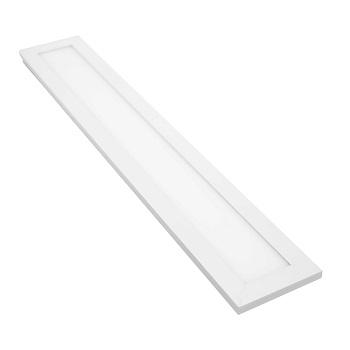 Luminária Plafon LED 18W 6500K Bivolt Embutir Retangular 100x600mm Branco - Ref. DI48498 - DILUX