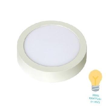 Luminária Plafon LED 12W 3000K Bivolt Sobrepor Redondo Branco - Ref. DI48542 - DILUX