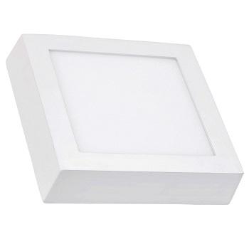 Luminária Plafon LED 18W 6500K Bivolt Sobrepor Quadrado Branco - Ref. DI48573 - DILUX