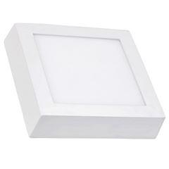 Luminária Plafon LED 18W 6500K Bivolt de Sobrepor Quadrado Branco - Ref.DI48573 - DILUX