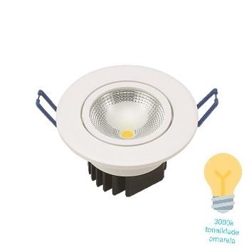Spot LED 5W Bivolt Embutir Redondo 3000K - Ref. DI48641 - DILUX