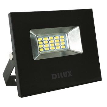 Refletor LED10W Bivolt Branco Frio 6000K Preto - Ref. DI48702 - DILUX