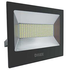 Refletor LED200W Bivolt Branco Frio 6000K Preto - Ref. DI48771 - DILUX