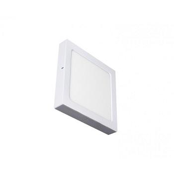 Plafon ABS e Alumínio de LED 18w Bivolt Quadrado 6500K Branco - Ref. 17209 - ECOFORCE