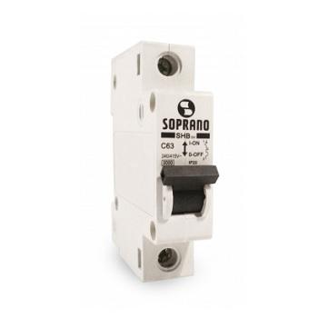 Disjuntor Unipolar 16A DIN SHB1 - Ref.05121.0016.11 - SOPRANO