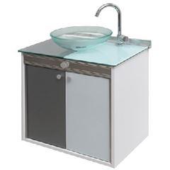 Gabinete para Banheiro em MDF Suspenso 62x40x67 com Cuba Cris-Duo - Ref. 000.902-4 - CRISMETAL