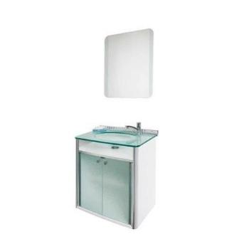 Gabinete Banheiro MDF Classic Espelho Suspenso 62x40cm - Ref. 000.930-0 - CRISMETAL