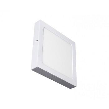 Plafon ABS e Alumínio Led 24w Bivolt Quadrado 6500k Branco - Ref.17210 - ECOFORCE