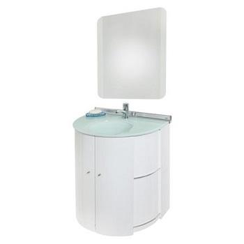 Gabinete de Banheiro Aço com Espelho Suspenso 58 cm Cris-Space - Ref.986-5 - CRISMETAL