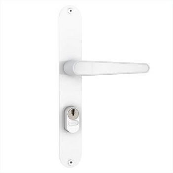 Fechadura Externa Estreita Alumínio Espelho 603/03 Gorje Branca - Ref. 33203 - STAM