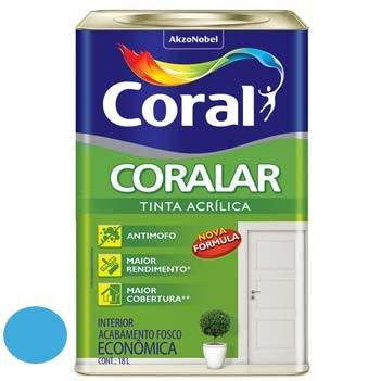 Tinta Acrílica Fosca Coralar Oceano 18 Litros - Ref. 5202291 - CORAL