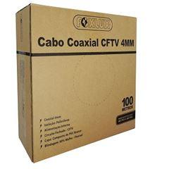 Cabo Coaxial CFTV 100m 80% Bipolar Branco - Ref. 66.15 - FOXLUX
