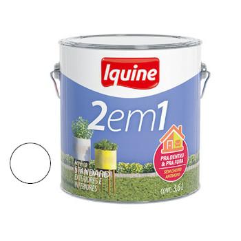 Tinta Acrílica Fosca 2 Em 1 Branco Neve 3,6 Litros - Ref.277300201 - IQUINE