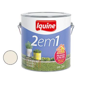 Tinta Acrílica Fosca 2 Em 1 Branco Gelo 3,6 Litros - Ref.277300301 - IQUINE