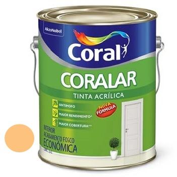 Tinta Acrílica Fosca Coralar Laranja Citríco 3,6 Litros - Ref. 5202298 - CORAL