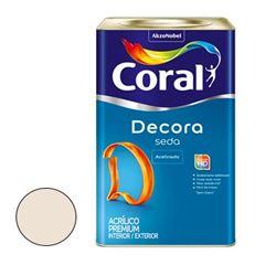 Tinta Acrílica Acabamento de Seda Acetinado Algodão Egípcio 18 Litros - Ref. 5280802 - CORAL