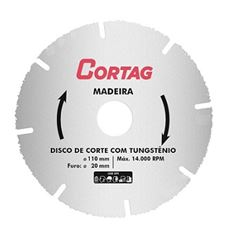 Disco Serra 110x20mm Madeira Tungstênio - Ref.61346 - CORTAG