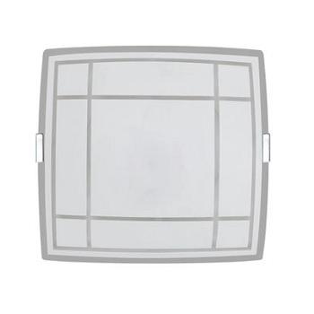 Plafon em Vidro 60w 28cm Quadrado Luxo Médio 1812BR - Ref.0007872 - ATTENA