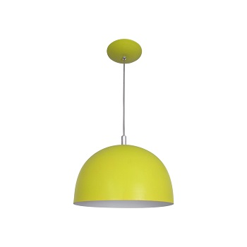 Pendente Alumínio 25w Color Dome 3103 Amarelo - Ref.0005785 - ATTENA