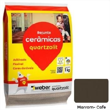 Rejunte Flexível Saco15kg Marrom Café - Ref.0107.00049.0015FD - QUARTZOLIT