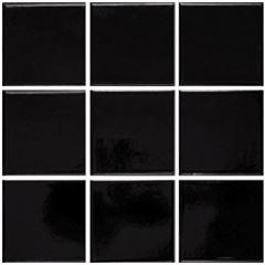 Revestimento 10x10 Lux Negro Brilhante Tipo A - Ref.01010001001054 - ELIZABETH