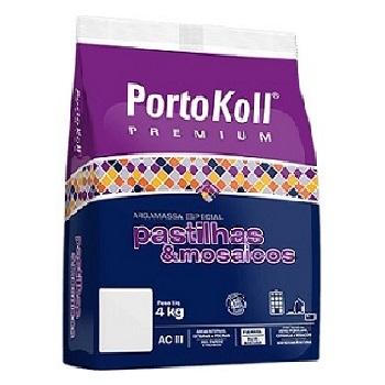 Argamassa Externa 4kg para Pastilhas de Vidro Cinza Platina - Ref.96342 - PORTOKOLL