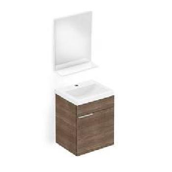Gabinete para Banheiro Like MDF Suspenso 41x34cm 1 Porta com Cuba e Espelho Wengue - Ref.B60002M210 - CELITE