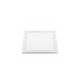 Plafon ABS Alumínio Led 18w Embutir Slim Quadrado 3000k Branco - Ref. 17207 - BRONZEARTE