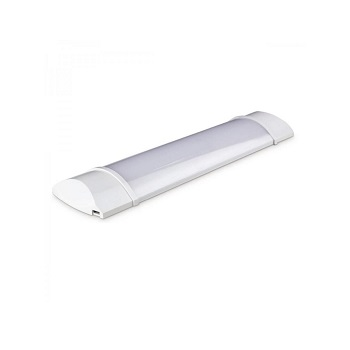 Luminária Aço e ABS Led 10w Bivolt Linea 6400K Branca - Ref.LLD10WC1 - BRONZEARTE