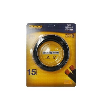 Cabo Flexível 1,5mm 15m 750v Preto - Ref.1150404401-15M - COBRECOM