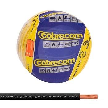 Cabo Flexível 1,5mm 100m 750v Preto - Ref.1150404401-100m - COBRECOM