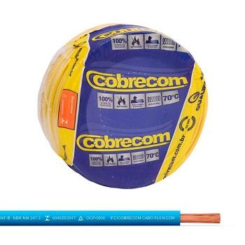 Cabo Flexível 4mm 100m 750v Azul Claro - Ref.1150602401-100m - COBRECOM