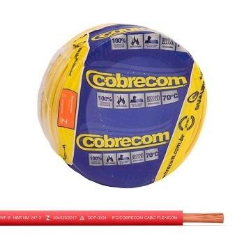 Cabo Flexível 4,0mm 50m 750v Vermelho - Ref. 1150606401-50M - COBRECOM
